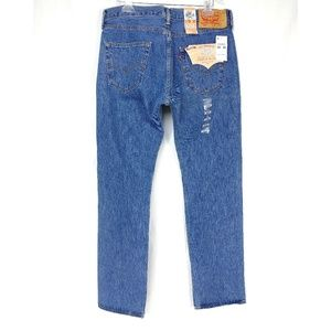 Mens LEVIS 501 Button Fly Straight Leg Jeans 34x34